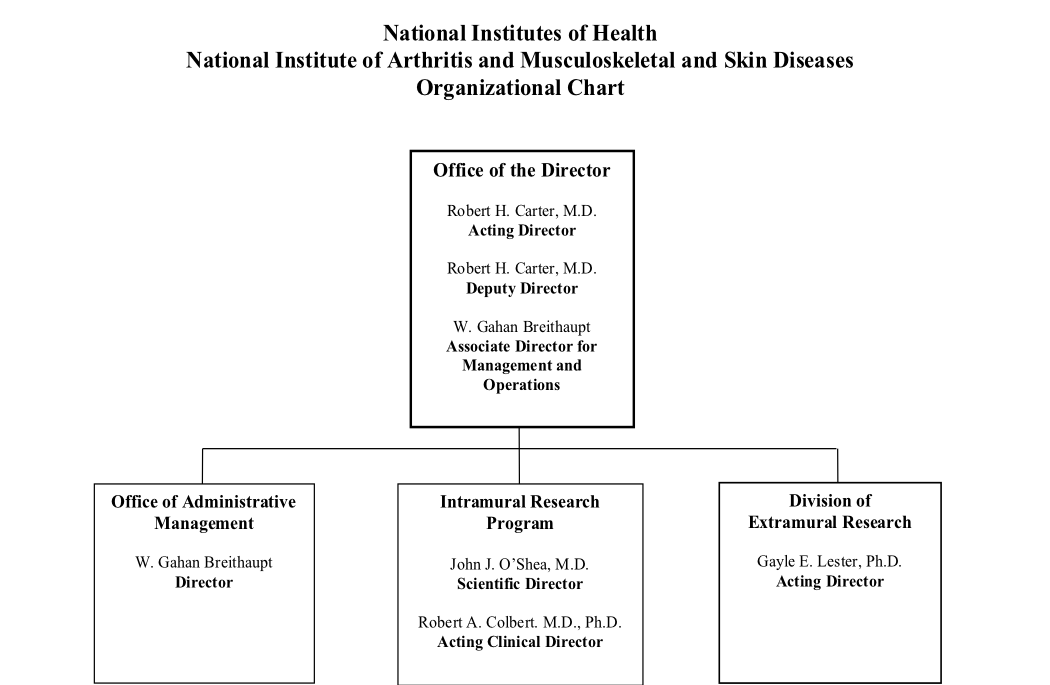 National Institute of Arthritis and Musculoskeletal and Skin Diseases Organizational Chart