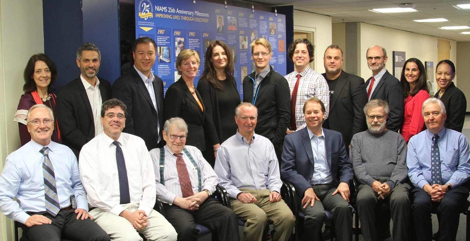 Roundtable participants included NIAMS director Dr. Stephen Katz (seated, third from l)