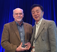 Photo of Dr. O'Shea and Dr. Taniguchi