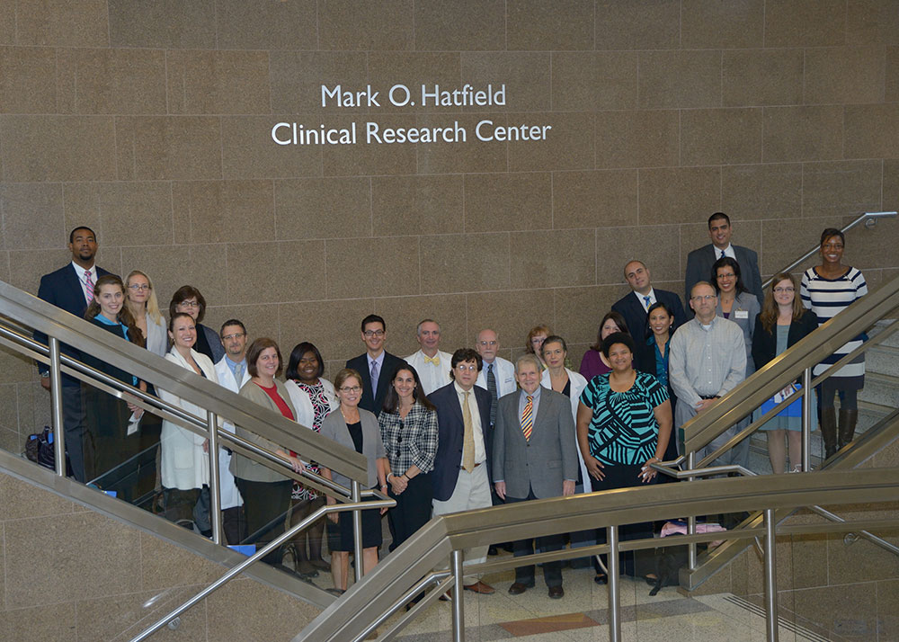 Senior Congressional staffers recently toured NIAMS laboratories to learn about translational research advances as part of NIAMS Awareness Day.
