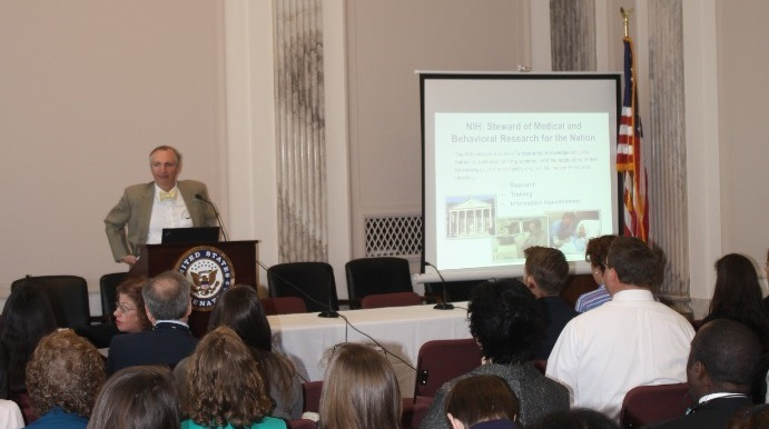 NIAMS Deputy Director Robert Carter, M.D., presents at a Congressional briefing sponsored by the Scleroderma Foundation.
