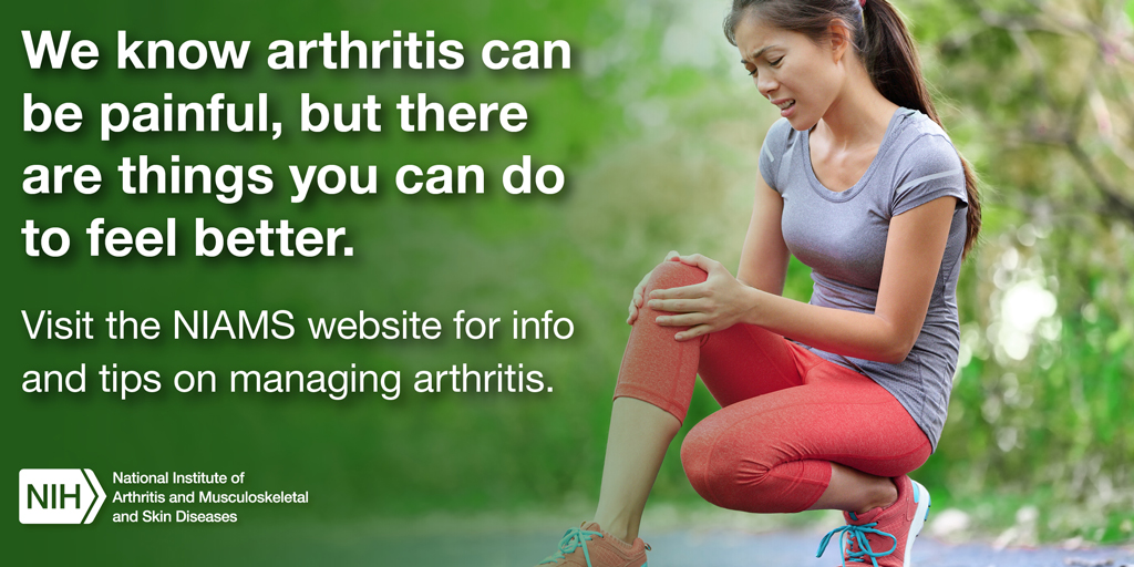 We know arthritis can be painful, but there are things that you can do to feel better.