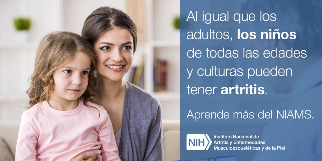 Al igual que los adultos, los niños de todas las edades y culturas pueden tener artritis.