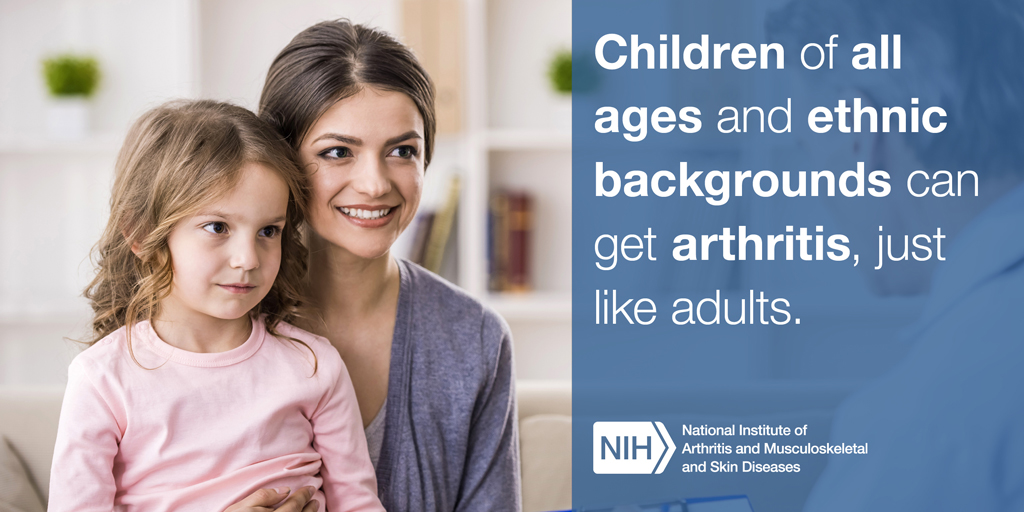 Children of all ages and ethnic backgrounds can get arthritis, just like adults.