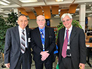 Phil Chen, Jr., Ph.D. (left), and NIH Deputy Director for Intramural Research, Michael Gottesman, M.D. (right), enjoyed a talk by John O'Shea (center) at the Philip S. Chen, Jr., Distinguished Lecture on Innovation and Technology Transfer.