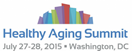 Healthy Aging Summit logo: July 27-28 - Washington, DC