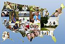 image collage in the USA map
