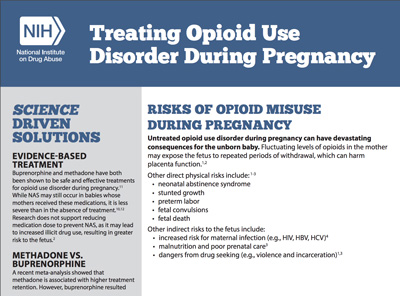 Treating Opioid Use Disorder During Pregnancy fact sheet