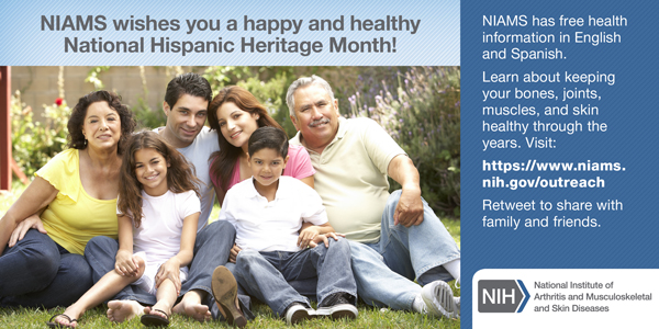 NIAMS wishes you a happy and healthy American Indian and Alaska Native Heritage Month! - November card