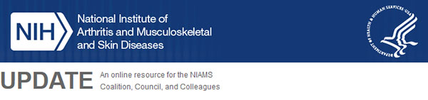 NIAMS Update banner - an online resource for the NIAMS Coalition, Council, and Colleagues