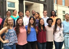 2016 summer students with Dr. Robert Walker