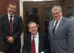 Photo of Dr. Abel Torres Senator Mark Kirk (R-IL) and Dr. Stephen Katz.