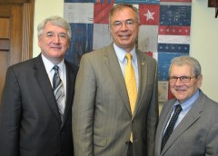 From left: AAOS Past President Joshua Jacobs, M.D., Rep. Andy Harris (R-MD), NIAMS Director Stephen I. Katz, M.D., Ph.D.