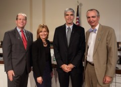 From left: David Karp, M.D., Ph.D., Sue Manzi, M.D., Martin Hodge, Ph.D., and Robert Carter, M.D., presented at the September 9, 2014, Capitol Hill briefing on the AMP.