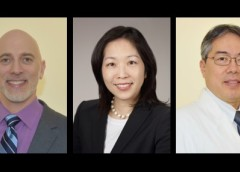 Portraits of Drs. Isaac Brownell, Heidi Kong, and Chris Nagao