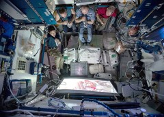 photo of astronauts in space