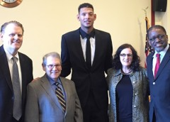 Photo of Gavin Lindberg Dr. Stephen Katz Isaiah Austin Dr. Kathleen Mimnagh and Dr. Gary Gibbons