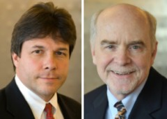 Two NIH physicians CC/NLM's Dr. James Cimino (l) and NIAMS's Dr. John O'Shea Jr. are among 70 new members elected to the Institute of Medicine.